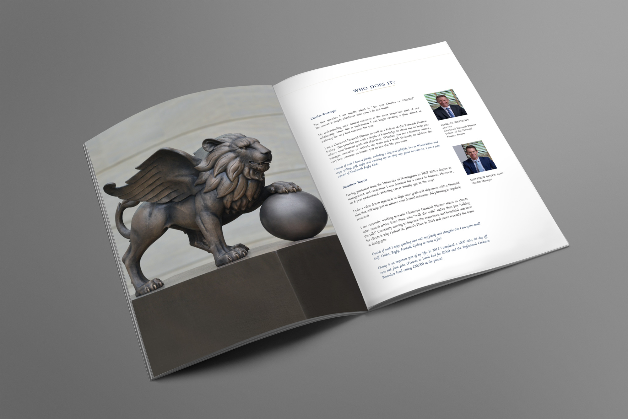 Bridgegate Wealth Management Brochure Spread Design
